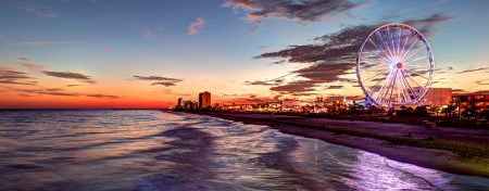 myrtle beach at sunrise